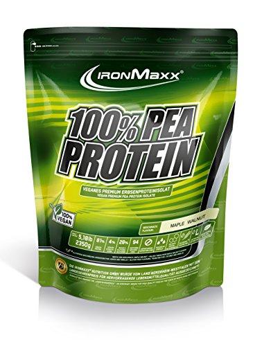 IronMaxx 100 Prozent Pea Protein - Maple Walnut, 1er Pack (1 x 2.35 kg)