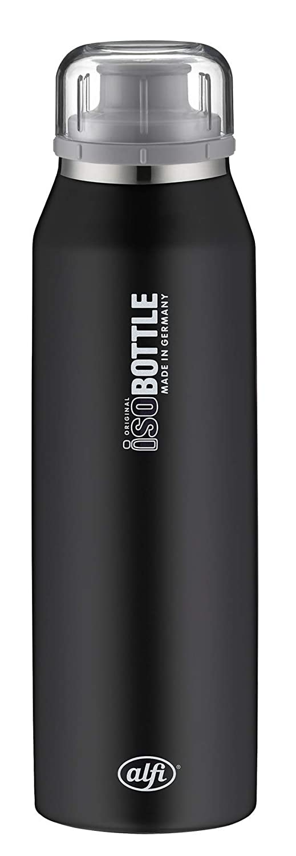 Alfi isoBottle bidón de Agua 500 ml Uso Diario Negro Acero ...