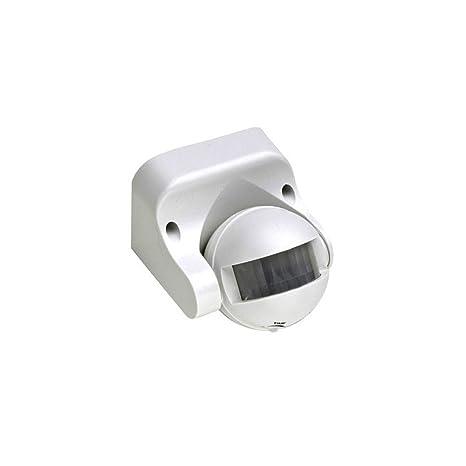 KHEBANG Detector infrarrojo Sensor Movimiento para dentro y fuera con 180° ángulo de detección,