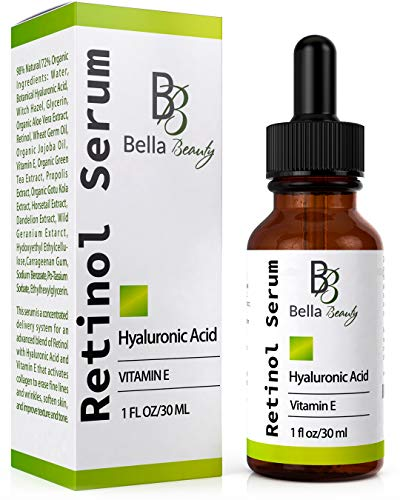 51o4kt9FyKL - Anti Aging Hyaluronic Acid and Retinol Serum 2.5% for Face with Vitamin E For Oily Acne Skin - Best Retinol Facial Moisturizer - Reduce Fine Lines - Wrinkle - Dark Spots - Pure Organic Ingredients