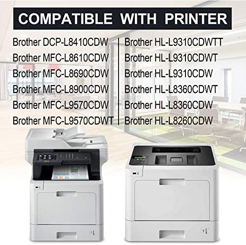 TN431 Toner Cartridge Replacement for Brother HL-L8260CDW L8360CDW L8360CDWT L9310CDWT L9310CDWTT DCP-L8410CDW MFC-L8610CDW L8900CDW L9570CDWT L9570CDW Printers Toner Cartridge 6 Pack 2C+2Y+2M