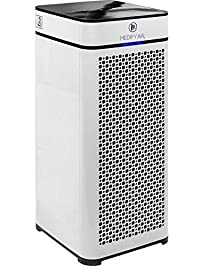 Medify MA-40 Medical Grade True HEPA (H13 99.97%) Air Purifier for 800 Sq. Ft. with Particle Sensor, Modern design
