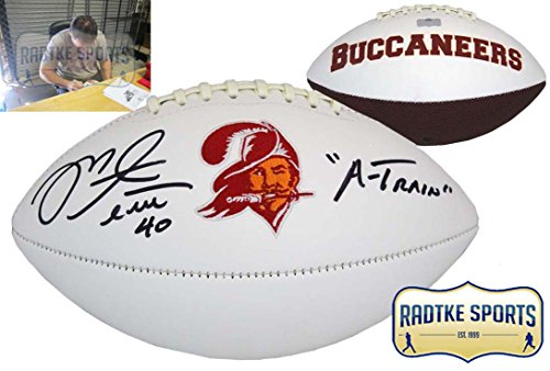 Mike Alstott Autographed/Signed Tampa Bay Buccaneers NFL Embroidered Football with
