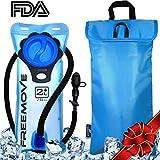 2L Hydration Pack Water Bladder & Cooler Bag   KEEPS DRINK COOL & PROTECTS YOUR BLADDER   Durable Leak Proof Water Reservoir   Large Oppening   Tasteless BPA Free   Quick Release Tube & Shutoff Valve