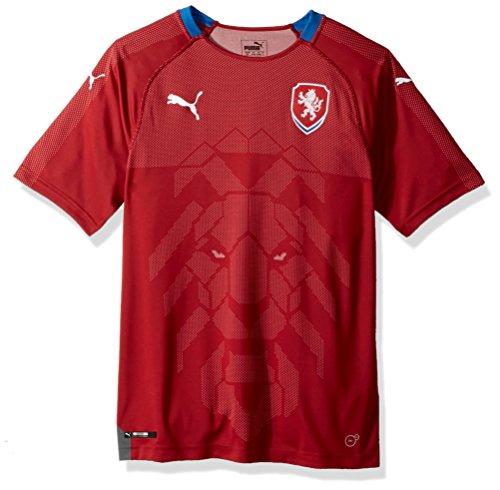 PUMA Men's Czech Republic Replica Shirt, Home Chili Pepper Royal, L