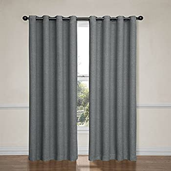 Eclipse 12966052063PWT Bobbi 52 Inch By 63 Inch Grommet Blackout Single  Window Curtain Panel