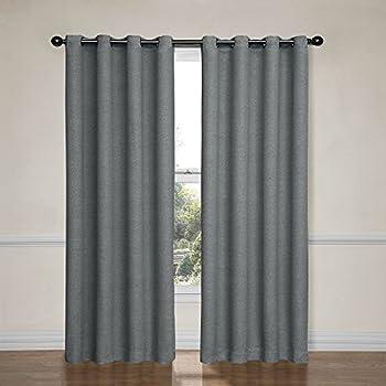 eclipse bobbi 52inch by 63inch grommet blackout single window curtain panel