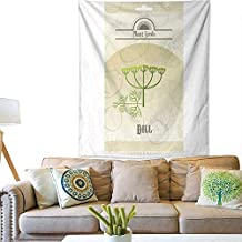 BlountDecor Art Tapestry Pack of Dill Seeds icon 60W x 80L INCH