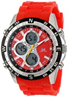 U.S. Polo Assn. Sport Men's US9136 Red Silicone Analog Digital Watch from U.S. Polo Assn. Sport