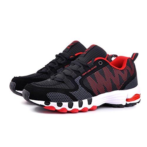 Delcord - Zapatillas de correr, caminar o entrenar para hombre Red