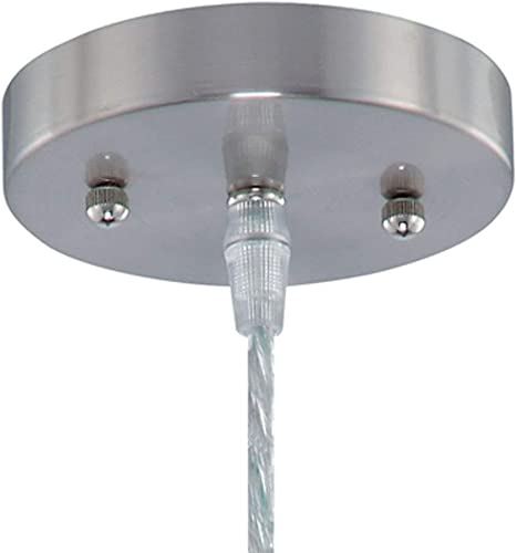 Lite Source Inc Lite Source LS-19598 ICY Pendant Lamp with Clear Acrylic Shade, Polished Steel