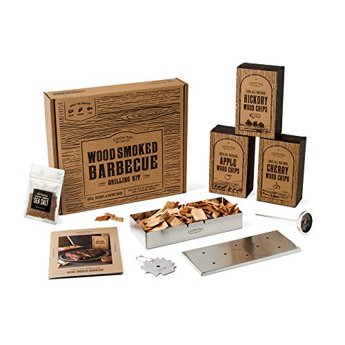 Wood Smoked Barbecue Grilling Set - 7 Piece - Gifts for Dad