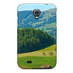 LJF phone case Brand New S4 Defender Case For Galaxy (green Hillsin Central Switzerland)