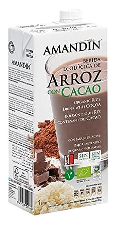 Amandin Bebida de Arroz con Cacao - Paquete de 6 x 1000 ml - Total: 6000 ml: Amazon.es: Alimentación y bebidas