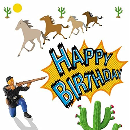 Cowboys and indians us cavalry soldier birthday cards for boys cowboys and indians us cavalry soldier birthday cards for boys bookmarktalkfo Image collections