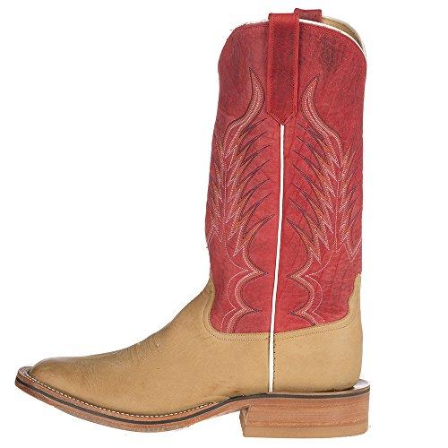 Nrs Rios Di Mercedes Mens Ride Ready Tan Brunito Crazy Horse Red Bulldozer Texas Steerhide Top Boots Tan
