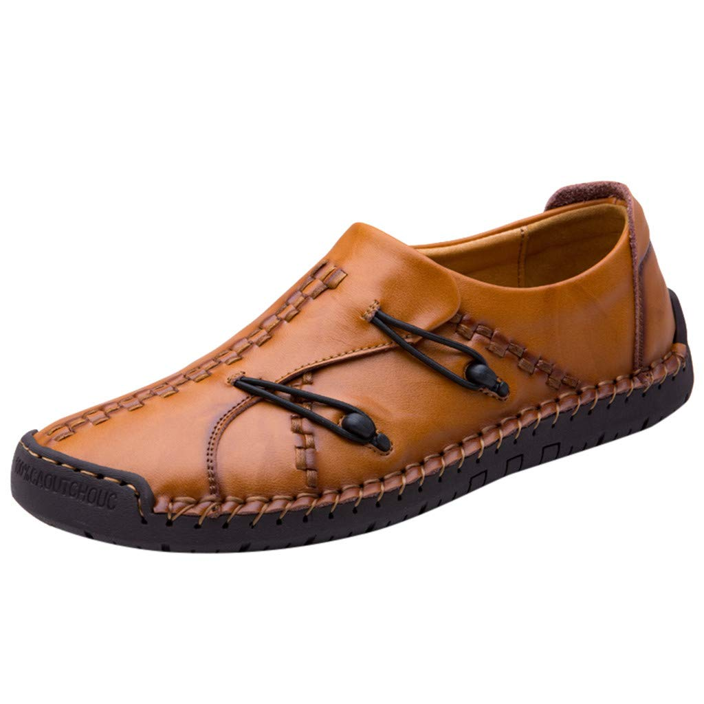Corriee Mens Shallow Mouth Leather Shoes Flats Fashion Casual Slip On Party Loafers Gold
