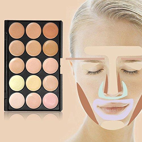 niceEshop Professional 15 Color Concealer Camouflage Makeup Palette (Concealer, 15 Colors)