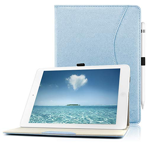 iPad Case for New 2018/2017 iPad 9.7 inch -Auto Sleep Wake Smart Case Cover with Pencil Holder for iPad 6th Gen, iPad 5th Gen -Blue