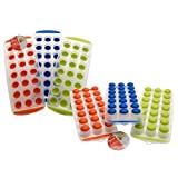 NEW EASY POP OUT NON STICK ICE CUBE TRAY SOFT SILICONE PLASTIC PARTY BBQ GARDEN by Guaranteed4Less