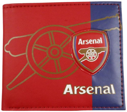 MLC Football Club Soccer Team Logo Printed Unisex PU Leather Wallets for Football Fans(Arsenal)
