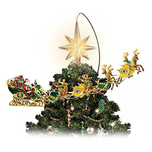 Green Bay Packers Holiday Pride Super Bowl XLV Rotating Tree Topper by The Bradford Exchange