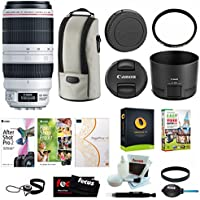 Canon EF 100-400mm f/4.5-5.6L IS USM II Lens w/ Tiffen 77mm UVP + Premium Photo & Video Software Suite Accessory Bundle