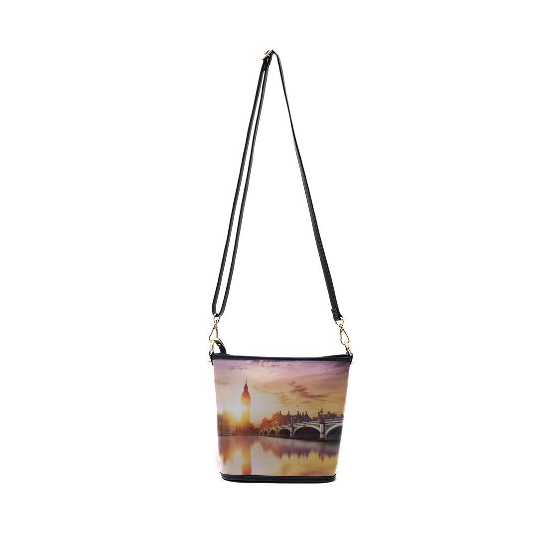 Best Shoulder Bag London At Dusk London Eye City Hall Multi-functional Wristlet Zipper Pocket Small Wristlet Handbag Travel Men Shoulder Messenger Bag Mens Bag Fashion