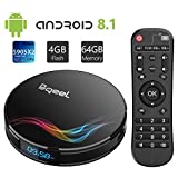Bqeel Android 8.1 TV Box with 4GB RAM 64GB ROM, Y4 MAX Amlogic