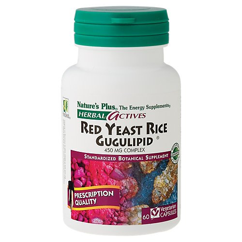 Nature's Plus - Herbal Actives Red Yeast Rice/Gugulipid 450 mg Complex, 60 capsules