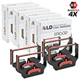 LD Compatible Epson ERC-02 Set of 4 Black and Red Printer Ribbons