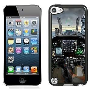 NEW Unique Custom Diyed Diy For Iphone 6Plus Case Cover Phone Case With Jet Cockpit Lockscreen_Black Phone Case