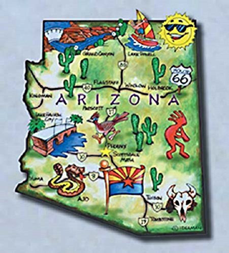 Arizona Magnet (Arizona the Grand Canyon State Artwood Jumbo Fridge Magnet)