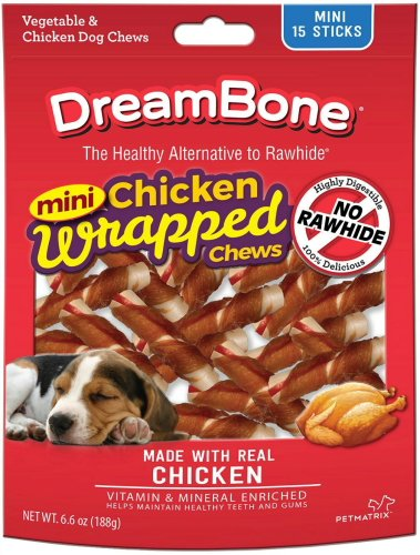 Cheap DreamBone Dog Chews Chicken Wrapped Sticks, Mini 15ct
