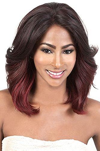 Beshe Human Hair Lace Front Wig HHBSL NIA (DARKPUR)