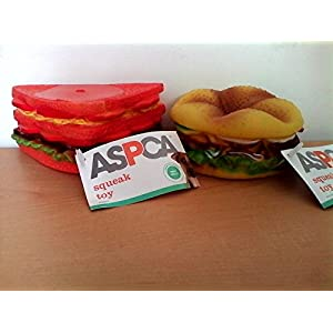 ASPCA Burger and Sandwich Squeak Toys for Dogs 5