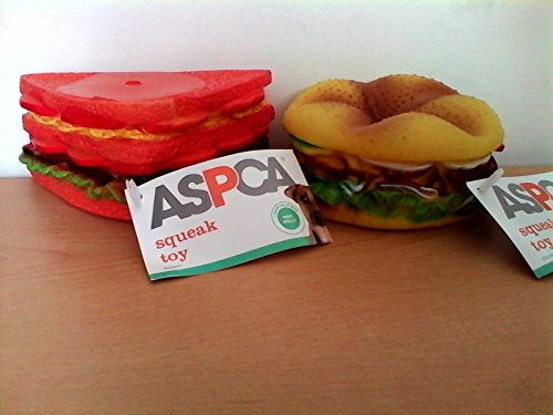 ASPCA Burger and Sandwich Squeak Toys for Dogs 1
