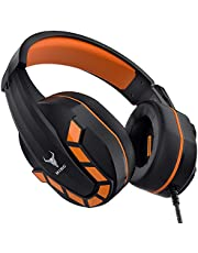 Kikc PS4 Gaming Headset with Mic for Xbox One, PS5, PC, Mobile Phone and Notebook, Controllable Volume Gaming Headphones with Soft Earmuffs, Headphones for Kid