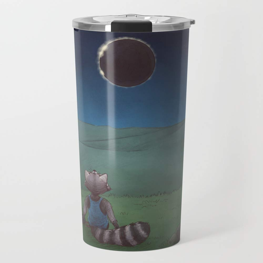 Society6 Ceramic Coffee Mug, 20 oz oz, Solar Eclipse by stinab