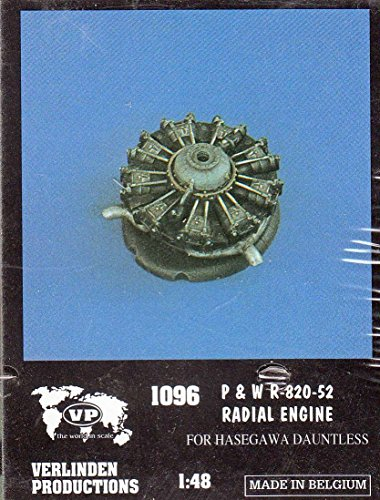 VER1096 1:48 Verlinden P&W R-820-52 Radial Engine (for use with the Hasegawa Dauntless kit) [MODEL KIT ACCESSORY]