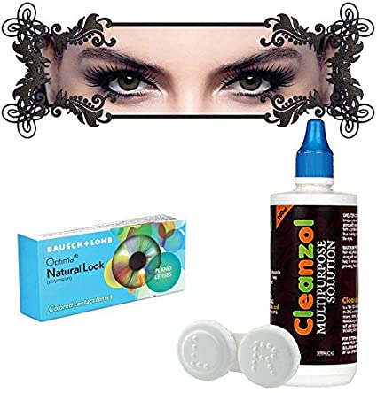 00aa5806683 Buy Bausch   Lomb Natural Look Quaterly Color Contact Lens- 2  Pcs.(Hazel-0.00) Online at Low Prices in India - Amazon.in