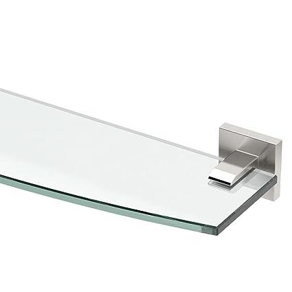 Gatco 4076 Elevate Glass Shelf, Satin Nickel - Mounted Bathroom ...