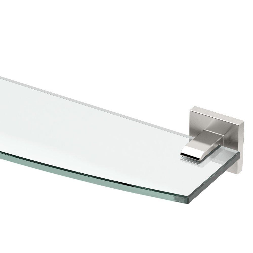 Gatco 4076 Elevate Glass Shelf, Satin Nickel