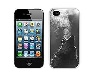 Best Hotcool Apple Iphone 4s White Case Durable Soft Silicone TPU Winter Wolf Howling Coolest Animal Cell Phone Case Cover Accessories for Iphone 4