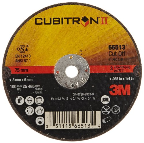 (3M Cubitron II Cut-Off Wheel T1, Ceramic Grain, 3