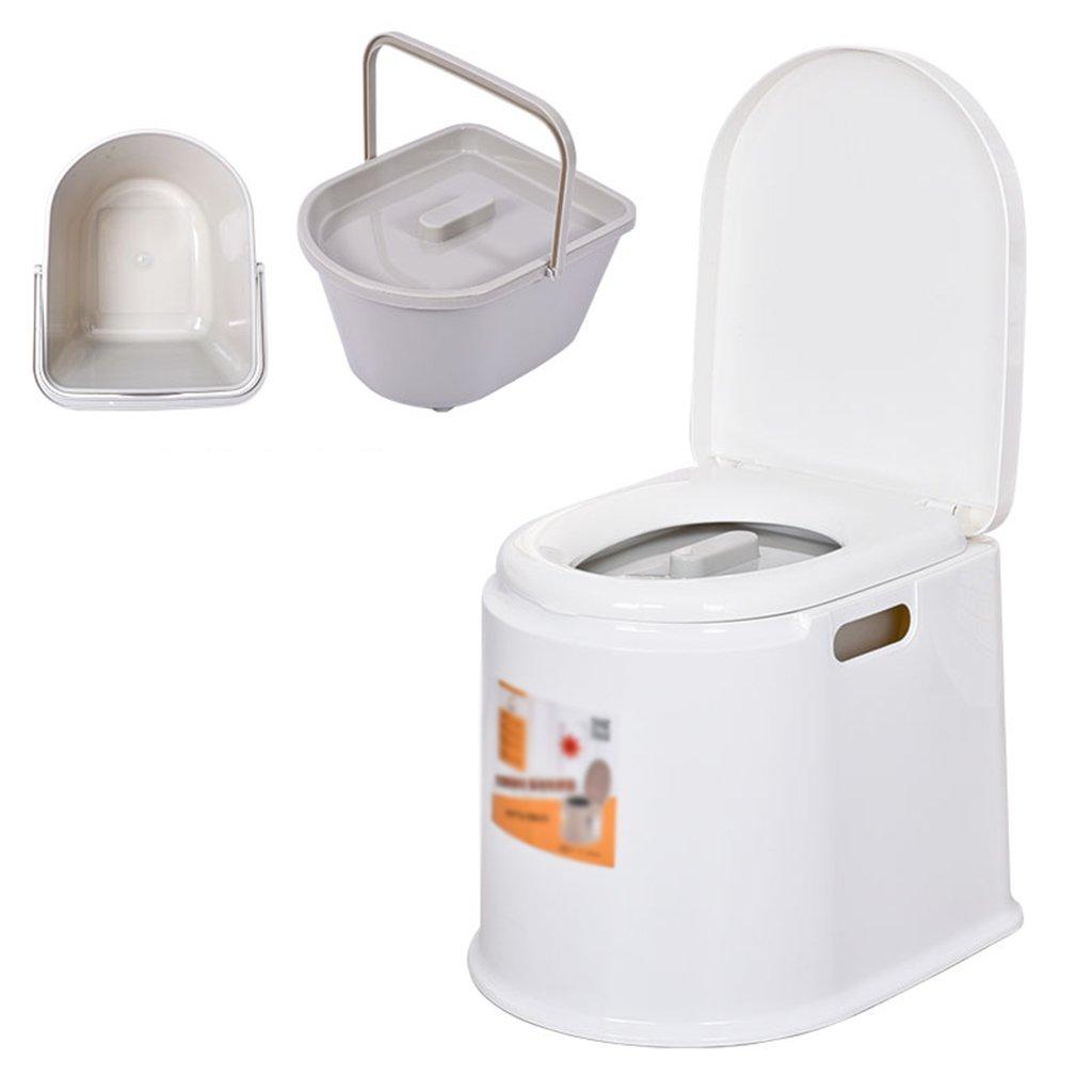 フードチェア軽量でポータブルなキャンプ用トイレは、屋内と屋外に適しています (色 : 白) B07CXGX5D9 白 白