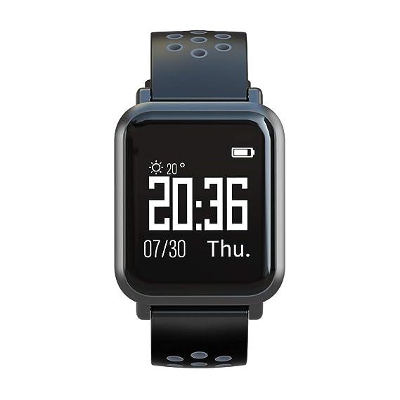 SN60 Monitor de sueño con Ritmo cardíaco Deportivo Reloj Inteligente a Prueba de Agua natación Banda Inteligente cámara remota Pulsera Inteligente Reloj ...