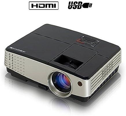 Mini proyector LCD HD Proyector de vídeo cine en casa 2600 Lumens ...