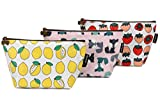 pouch Sea Team 3pcs Waterproof Fabric Cosmetic Bags Portable Travel Toiletry Pouch Makeup Organizer Clutch Bag with Zipper (ST-CB0622A)