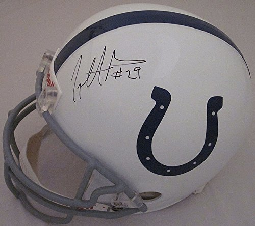 Riddell Joseph Addai Indianapolis Colts Autographed Full Size Replica Helmet - Certified Authentic - Licensed NFL Memorabilia - Indianapolis Colts ()